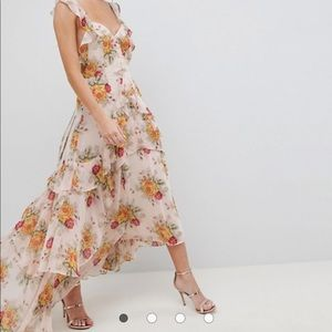 ASOS Ruffe Maxi Dress